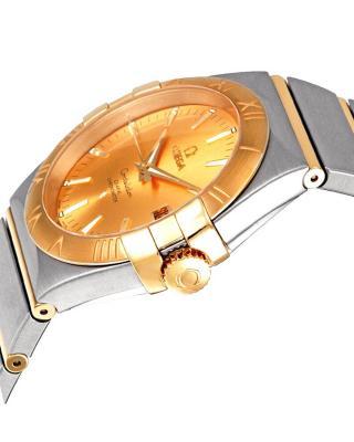 瑞士 Omega 欧米茄 星座系列 贵族气质香槟色机械男表 123.20.35.20.08.001