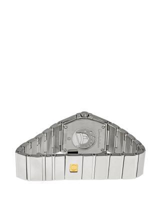 瑞士 Omega 欧米茄 简约休闲星座系列磨砂款贝壳面石英女表 123.10.27.60.05.001