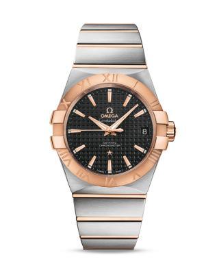 瑞士 Omega 欧米茄 星座系列 Cal.850018K玫瑰金日期显示自动机械男士手表 123.20.38.21.01.001