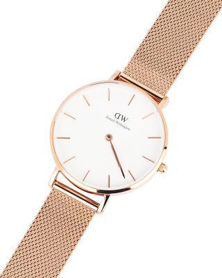 瑞典原装进口 Daniel Wellington 丹尼尔惠灵顿 32mm金边钢带石英女士手表 DW00100163