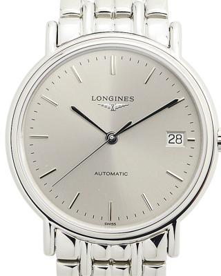 瑞士 LONGINES 浪琴 银色精钢自动机芯男表 L4.821.4.72.6