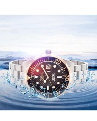 Invicta 因维克塔Pro Diver系列不锈钢圆形银色瑞士石英机芯男士手表 INVICTA-12567
