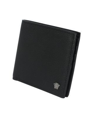 意大利 Versace 范思哲 黑色牛皮男士短款钱包 DPU2463 DGOV2 D41BS