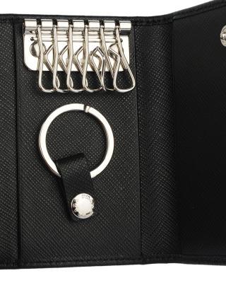 意大利 PRADA 普拉达 黑色真皮男士钥匙包 2PG002-053-F0002