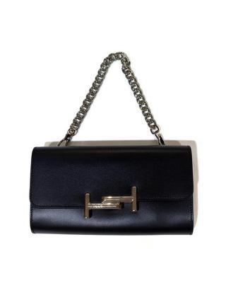 意大利 TOD'S 托德斯 女士黑色皮革链条手提包 XAWAMU06200PULB999