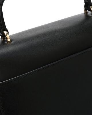 美国原装进口 Michael Kors 迈克高仕 MOTT系列 黑色皮革女士手提单肩包 30S8GOXS2L BLACK