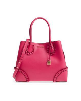 美国 Michael Kors 迈克高仕 女士浅粉红色皮质手提单肩包 30S8GZ5T6Y-ULTRA PINK