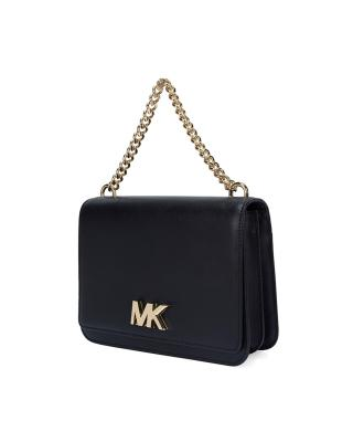 美国 Michael Kors 迈克高仕 MOTT系列 黑色牛皮女士手提单肩包 30T7GOXL7L BLACK
