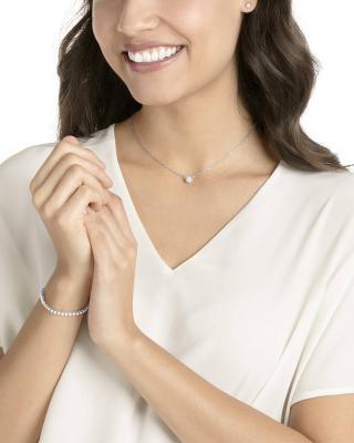 奥地利 Swarovski 施华洛世奇 ATTRACT EMILY时尚项链耳饰套装 银色5408443