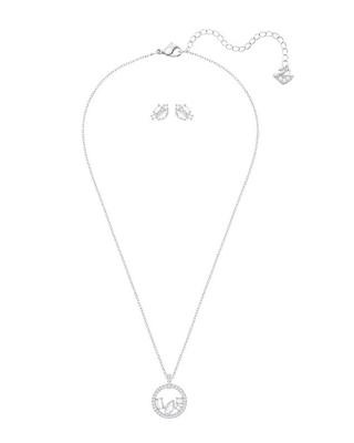 奥地利 Swarovski 施华洛世奇 HENRIETTA圆环项链耳饰套装 5368072
