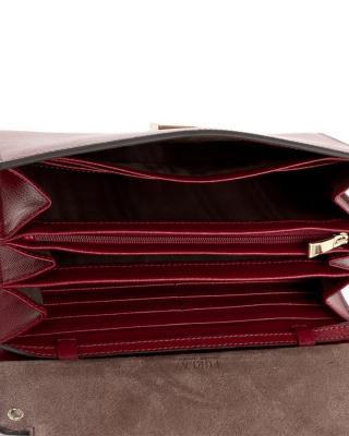 意大利原装进口 FURLA 芙拉 LIKE系列 酒红色女士手提单肩斜跨包 920280 BLM7 00Z CILIEGIA d