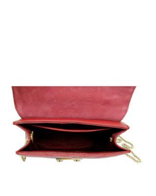 意大利原装进口 FURLA 芙拉 METROPOLIS系列 酒红色女士链条单肩斜跨包 985993 BUD6 00Z CILIEGIA d