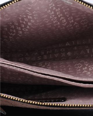 美国原装进口 Kate Spade 凯特丝蓓 madelyne larchmont 棕色皮革女士中号单肩斜挎包 WKRU5514-233