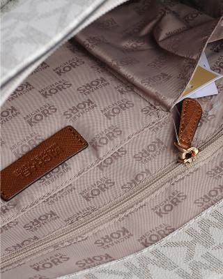 美国原装进口 Michael Kors 迈克高仕 女士香草色皮革中号单肩手提包 35S6GTTT3B-VANILLA/LUGG