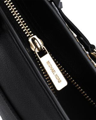 美国原装进口 Michael Kors 迈克高仕 黑色皮革女士单肩手提包 35F8GYEM6T-BLK/DK KHAKI