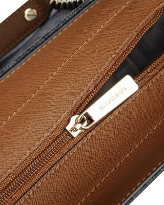 美国原装进口 Michael Kors 迈克高仕 Jet Set 棕色皮革女士链条中号手提包 35F5GTVT3B-BROWN