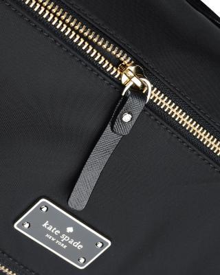 美国原装进口 Kate Spade 凯特丝蓓 lyndon blake avenue 黑色涤纶女士中号手提斜挎单肩包 WKRU4215-001