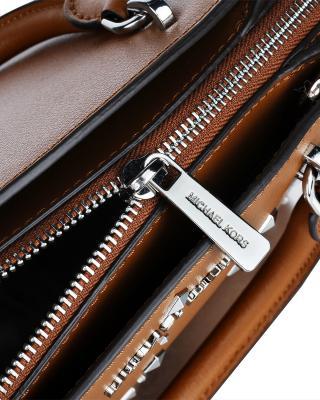 美国原装进口 Michael Kors 迈克高仕 ellis 棕色皮革女士小号手提斜挎单肩包 35H7SE0S5L-LUGGAGE