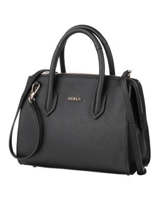 意大利原装进口 FURLA 芙拉 女士黑色皮革小号手提斜挎单肩包 997353 B BMN1 OAS Onyx