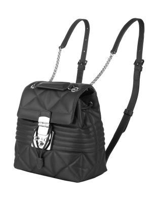 意大利原裝進口 FURLA 芙拉 女士黑色皮革雙肩包 988337 B BTE1 WNT Onyx