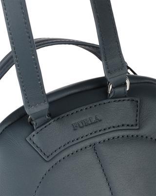 意大利原裝進口 FURLA 芙拉 女士深藍色皮革雙肩包 998403 B BTC1 Q13 Ardesia e