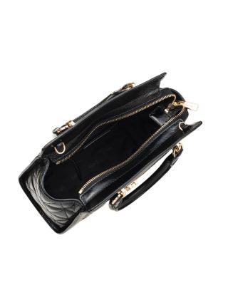 美国原装进口 Michael Kors 迈克高仕 vivianne 黑色皮革女士小号手提包 35F7GVAM1A-BLACK