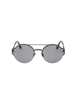 意大利 Bottega Veneta 葆蝶家 女士时尚太阳镜 BV0013S 004 59 圆形深咖镜框灰色镜片59mm