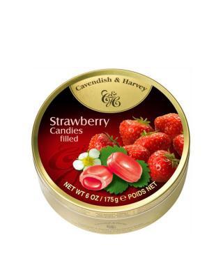 Cavendish & Harvey 嘉云牌 草莓味夹心糖果 175g (完税版)
