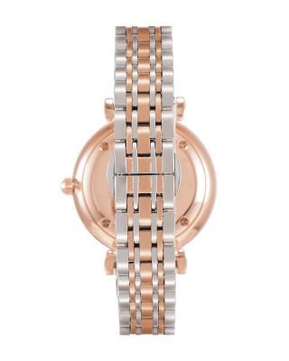 意大利原装进口 Emporio Armani 安普里奥·阿玛尼 双色钢带石英女士手表 AR1926 满天星手表