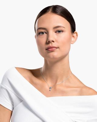 奥地利原装进口 Swarovski 施华洛世奇 LIFELONG HEART 挚爱璀璨女士项链 镀白金色 5517928