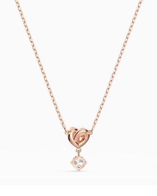 奥地利原装进口 Swarovski 施华洛世奇 LIFELONG HEART 挚爱璀璨女士项链 镀玫瑰金色 5516542