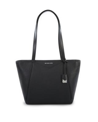 美国 Michael Kors 迈克高仕 黑色皮革女士手提包 30S8SN1T1L Black