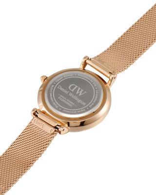 瑞典原装进口 Daniel Wellington 丹尼尔惠灵顿 28mm金边钢带石英女士手表 DW00100219