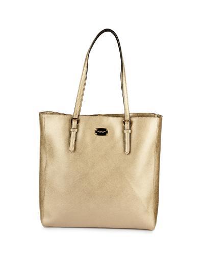 美国 Michael Kors 迈克高仕 金色女士手提单肩两用包