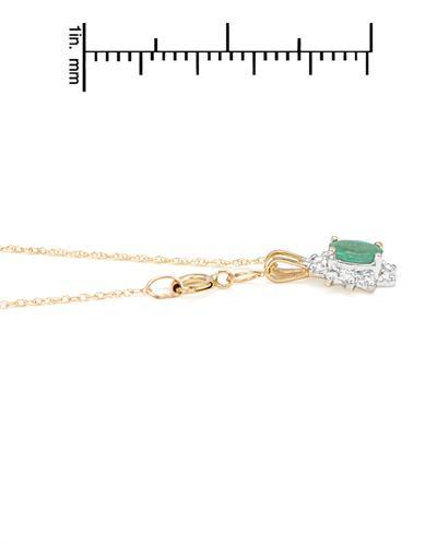 Celine Fang 赛琳.方 10K黄金0.22克拉天然祖母绿项链