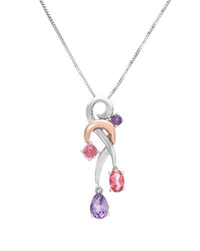 Celine Fang 赛琳.方 黄金和925纯银1.5克拉天然紫晶项链