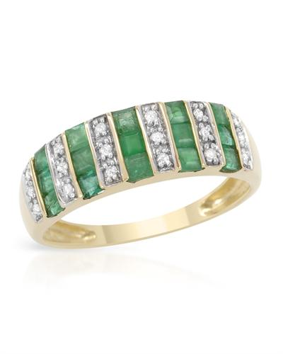 De Dears 黛狄尔斯 14K黄金0.85克拉天然祖母绿戒指