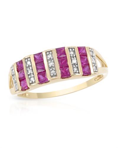 De Dears 黛狄尔斯 14K黄金0.85克拉天然红宝戒指