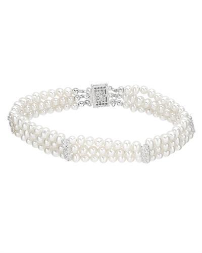 Krementz 韦文氏 925银天然珍珠手链