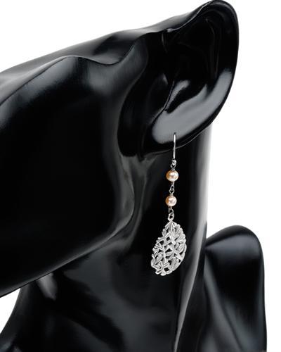 Krementz 韦文氏 925银天然珍珠耳环