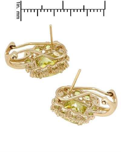 FPJ 925银镀金13克拉天然锆石耳环