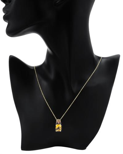 FPJ 925银镀金6.6克拉天然黄晶项链