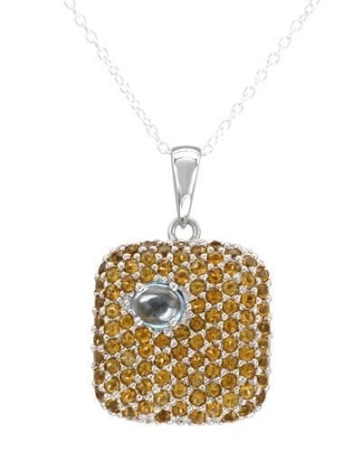 FPJ 925银3.2克拉天然黄晶项链