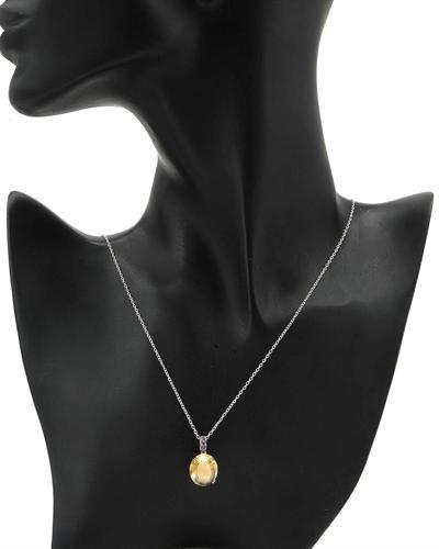 FPJ 925银8.85克拉天然黄晶项链