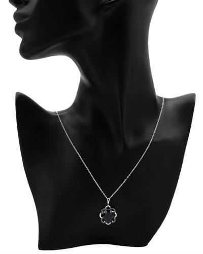 FPJ 925银0.4克拉天然蓝晶项链