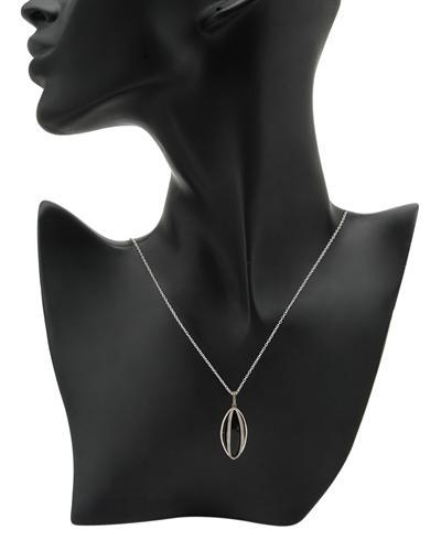 FPJ 925银天然缟玛瑙项链
