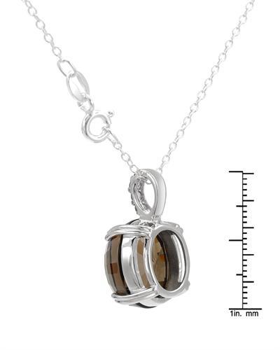 FPJ 925银9克拉天然茶晶项链