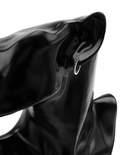 De Dears 黛狄尔斯 925银0.06克拉纯天然钻石圈耳环