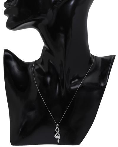 De Dears 黛狄尔斯 925银0.06克拉纯天然钻石项链