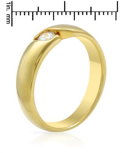 De Dears 黛狄尔斯 14K黄金0.25克拉纯天然钻石男士圈戒戒指